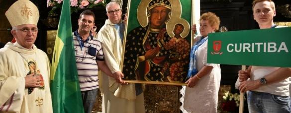 Przekazanie obrazu Matki Bożej Częstochwskiej dla Polonii brazylijskiej